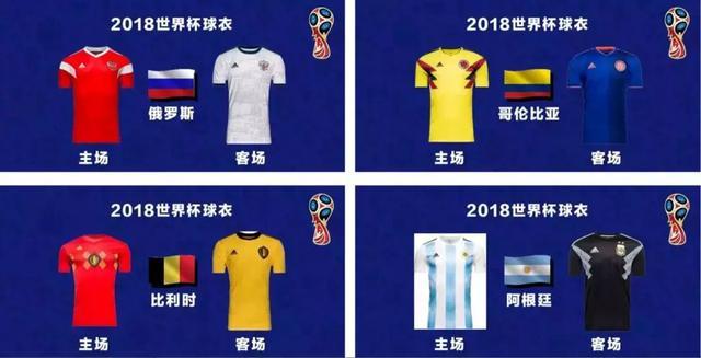 本届世界杯官方的队服设计